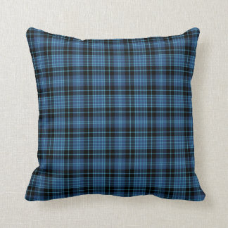 Blue and Black Scottish Clergy Tartan Pattern Cushion