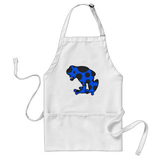 Blue and Black Spotted Frog Apron