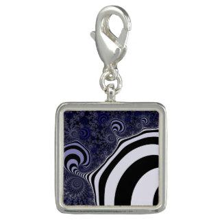 Blue and black striped  fractal.
