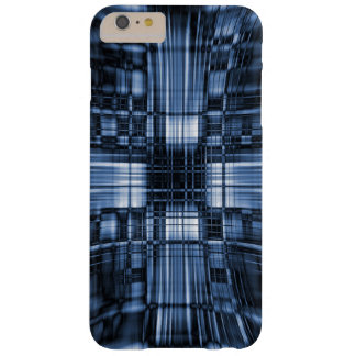 Blue and black tech lines barely there iPhone 6 plus case