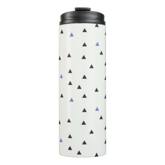 Blue and Black Triangles Bottle