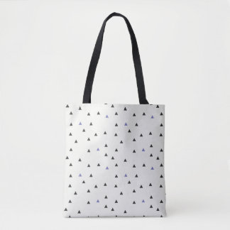Blue and Black Triangles Tote Bag