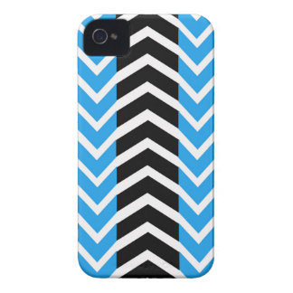 Blue and Black Whale Chevron Case-Mate iPhone 4 Case