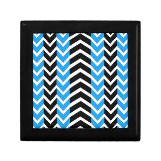 Blue and Black Whale Chevron Gift Box