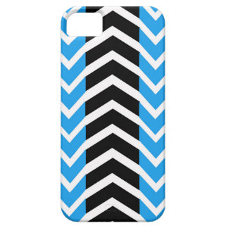 Blue and Black Whale Chevron iPhone 5 Cover