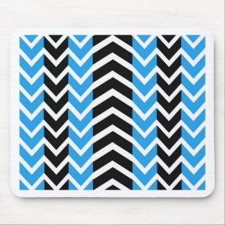 Blue and Black Whale Chevron Mouse Pad