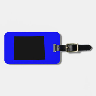Blue and Black Wyoming Luggage Tag