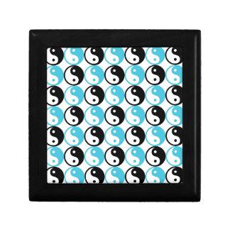 Blue and black yin yang pattern gift box