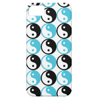 Blue and black yin yang pattern iPhone 5 cover