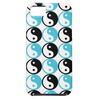 Blue and black yin yang pattern tough iPhone 5 case