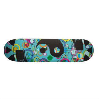 Blue And Black Yin Yang Symbol Skate Board Decks