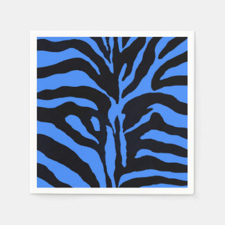 Blue and black zebra animal fashion modern disposable serviette