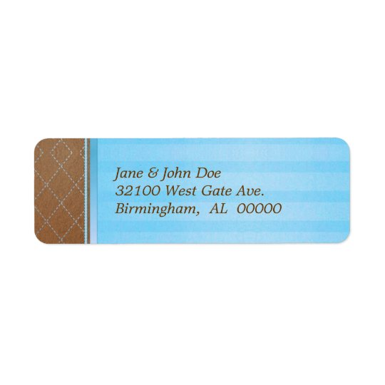 Blue and Brown Address Labels