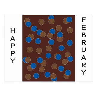 Blue and Brown Balls Post Cards
