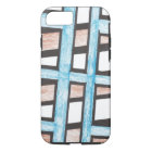 Blue and Brown Blocks iPhone 7 case