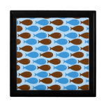 Blue and Brown Fish Keepsake Box