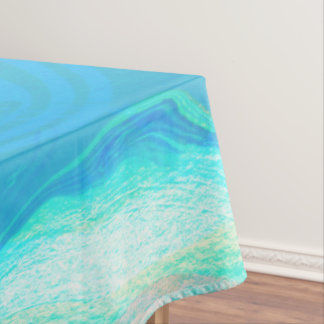 Blue And Brown Marble Stone Tablecloth