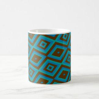 Blue and brown mug