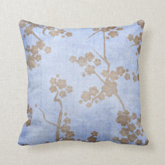 Blue and Brown Oriental Tree Pillow