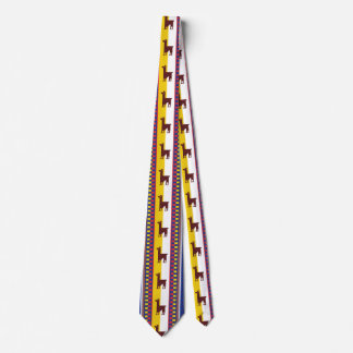 Blue and brown peruvian Llama Pattern Tie