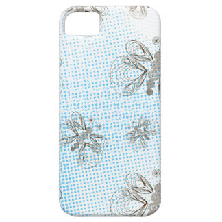 Blue and brown retro butterflies design iPhone 5 cases