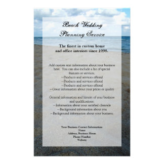 Blue and Brown Sands ~ Beach Wedding 14 Cm X 21.5 Cm Flyer