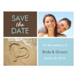 Blue and Brown Save the Date photo cards Personalised Invite