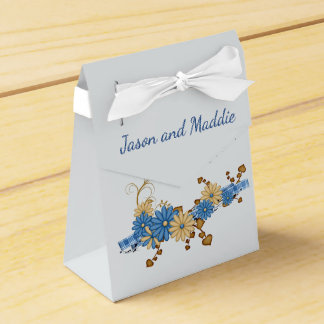 Blue and Burlap Country Wedding Favour Box