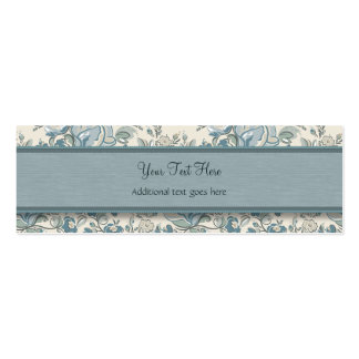 Blue and Cream Roses with Monogram Pack Of Skinny Business Cards