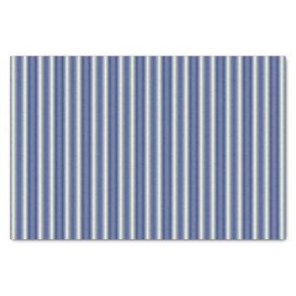Blue and Cream Stripes Tissue Paper