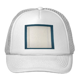 Blue and Cream Wood Panel Mesh Hat