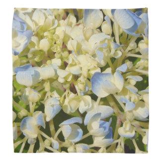 Blue and creamy white hydrangea flowers photo bandana