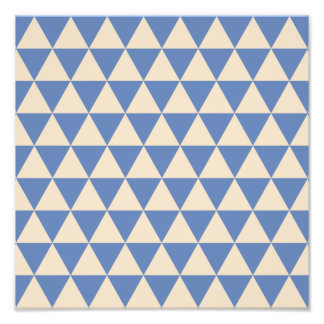Blue And Creamy White Triangle Pattern Photograph