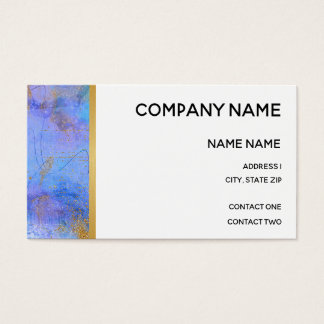 Blue and Gold and Gold Lined Border Business Card