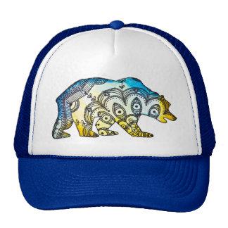 Blue and Gold Bear Snapback By Megaflora Cap