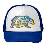 Blue and Gold Bear Snapback By Megaflora Mesh Hats