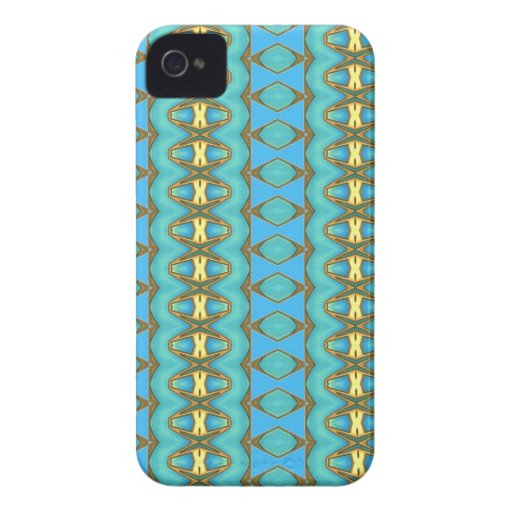 Blue and Gold Blackberry Case