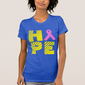 Blue and Gold Breast Cancer Awareness T Shirt