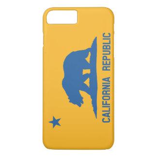 Blue and Gold California Republic Flag iPhone 7 Plus Case