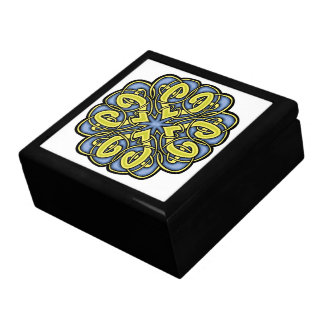 Blue and Gold Celtic Knot Large Square Gift Box