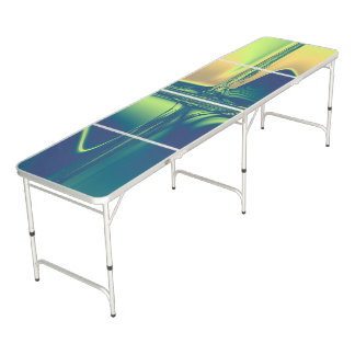 Blue and Gold Crossings Pong Table