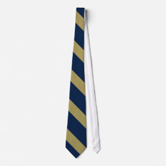 Blue and Gold Diagonally-Striped Neck Tie