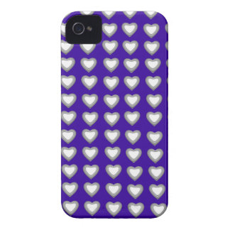 Blue and gold Hearts BlackBerry Bold Case-Mate iPhone 4 Covers