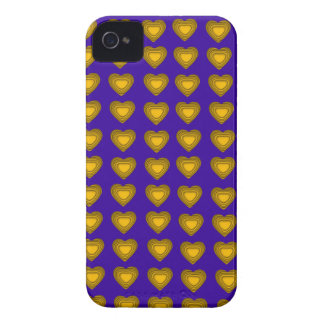 Blue and gold Hearts BlackBerry Bold Case-Mate iPhone 4 Cover