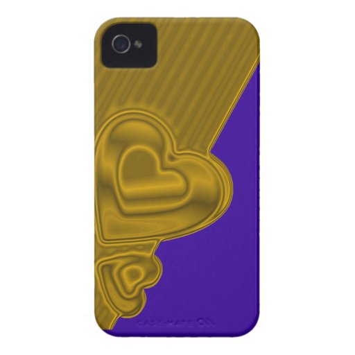 Blue and gold Hearts BlackBerry Bold Case-Mate