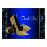 Blue and Gold High Heel Shoe Thank You
