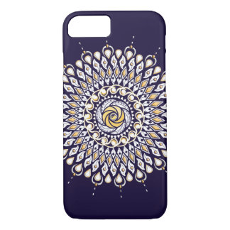 Blue and Gold Lens Mandala Phone Case