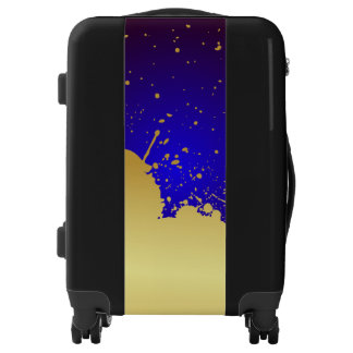 Blue and Gold Luggage