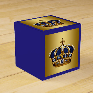 Blue and Gold Prince Favour Box