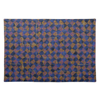 Blue and gold sparkle placemat